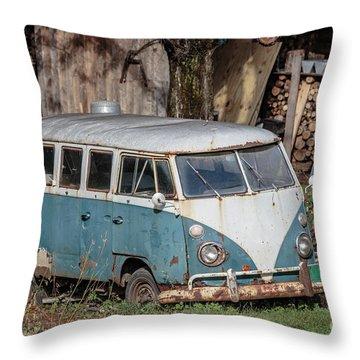 Abandoned Car Throw Pillows