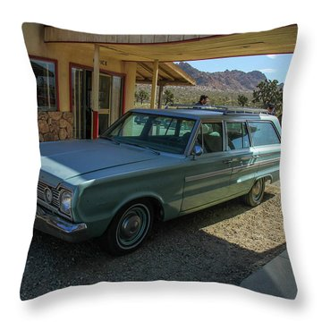 Old Wagon Throw Pillow by Robert Hebert