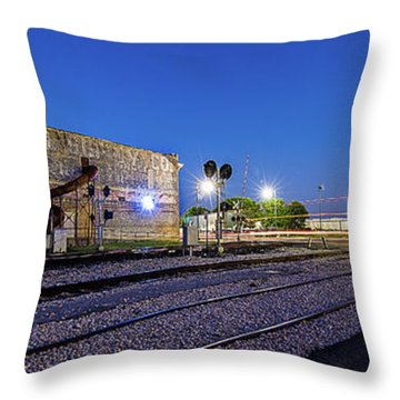 Old Wall Signage - San Antonio  Throw Pillow by Micah Goff