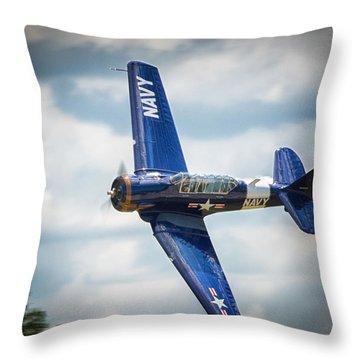 Old Warbird Trainer Throw Pillow