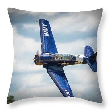 Old Warbird Trainer Throw Pillow