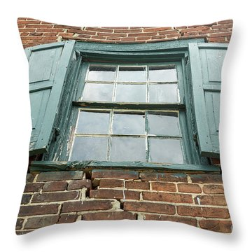 Old Warehouse Window Throw Pillow