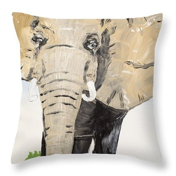 Old Warrior Throw Pillow