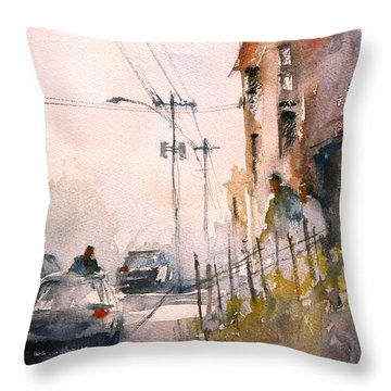 Old Wautoma Hotel Throw Pillow