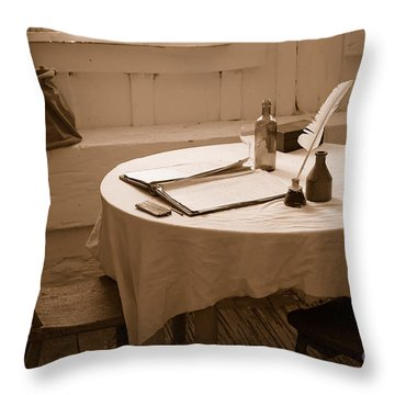 Old Way Of Life Series - Home Office Throw Pillow