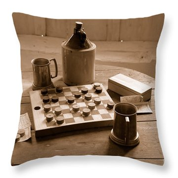 Old Way Of Life Series - Past Time Throw Pillow