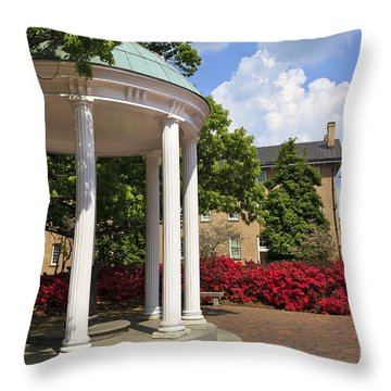 Old Well At Chapel Hill In Spring Throw Pillow