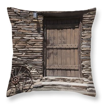 Old West Throw Pillow by Kelley King