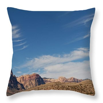 Old West Poles Throw Pillow