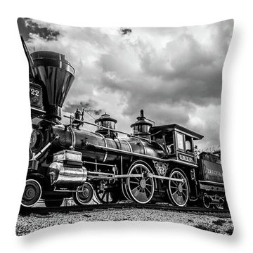 Old West Train Throw Pillow