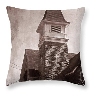 Throw Pillow featuring the photograph Old Western Cathedral Cafe by Aimee L Maher Photography and Art Visit ALMGallerydotcom