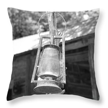Old Western Lantern Throw Pillow