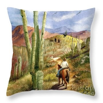 Old Western Skies Throw Pillow