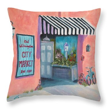 Old Wilmington City Market  Throw Pillow