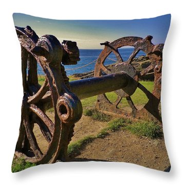 Old Winch Tintagel Throw Pillow