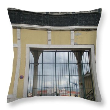 Old Window In Lisbon Throw Pillow
