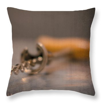 Old Wine Opener Throw Pillow