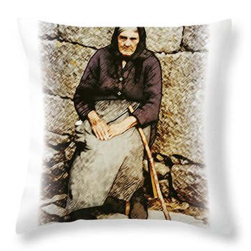 Old Woman Of Spain Throw Pillow