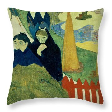 Old Women Of Arles Throw Pillow by Paul Gauguin