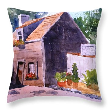 Old Wooden School House Throw Pillow by Larry Hamilton