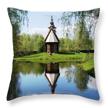 Old World Church Throw Pillow