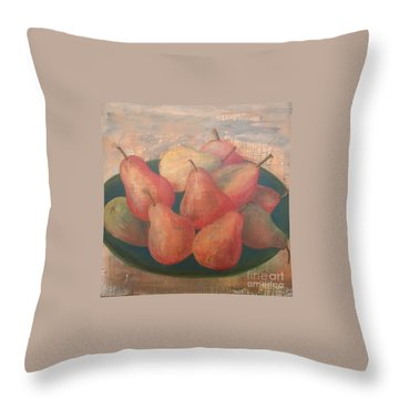 Old World Pears Throw Pillow