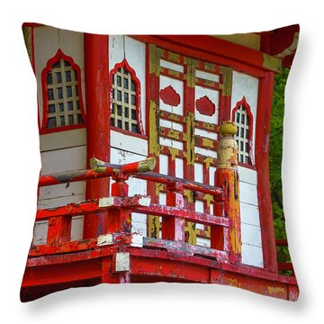Old Worn Pagoda Throw Pillow