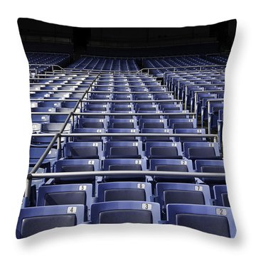 Old Yankee Stadium Seating Throw Pillow by Paul Plaine