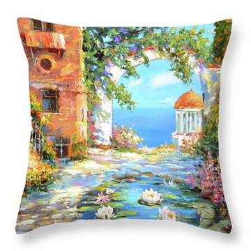 Old Yard  Throw Pillow