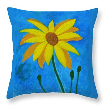 Old Yellow  Throw Pillow