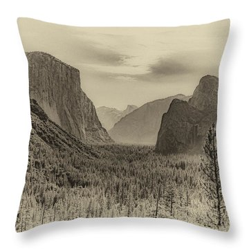 Old Yosemite Throw Pillow