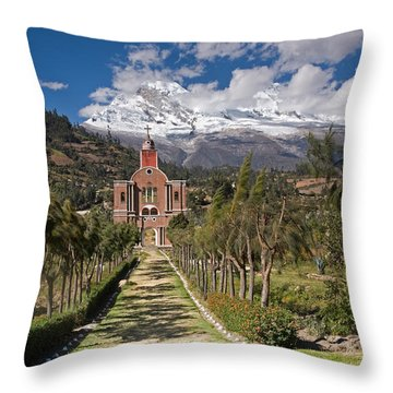 Old Yungay Campo Santo Throw Pillow by Aivar Mikko