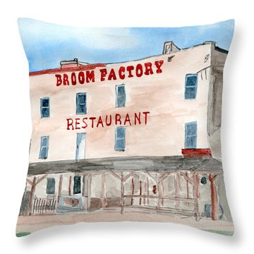 Olde Broom Factory Restaurant Throw Pillow by R Kyllo