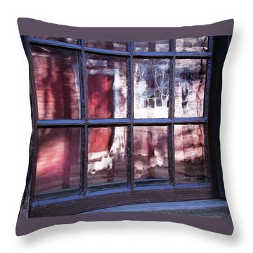 Olde Glass Throw Pillow