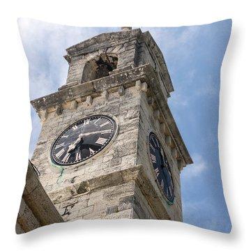 Olde Time Clock Throw Pillow