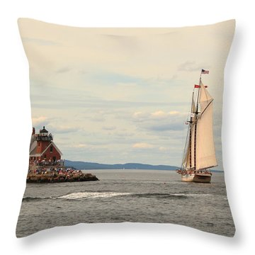 Olden Days Throw Pillow