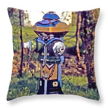 Oldenburg Fireplug Throw Pillow