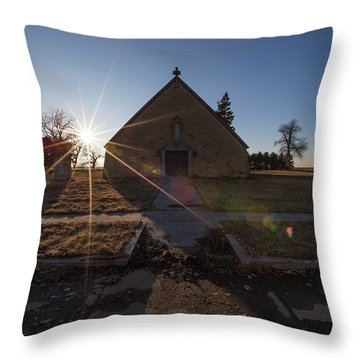 Oldham, Sd Throw Pillow by Aaron J Groen