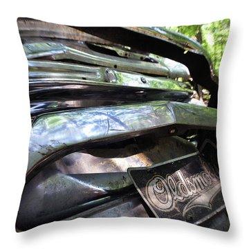 Oldsmobile Bumper Detail Throw Pillow