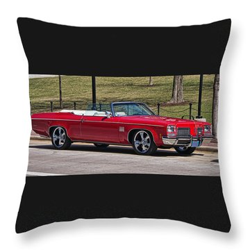 Oldsmobile Delta Royale 88 Red Convertible Throw Pillow