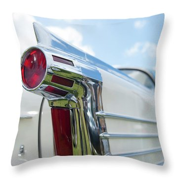 Oldsmobile Tail Throw Pillow by Helen Northcott