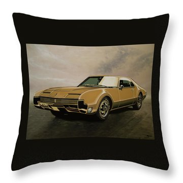 Oldsmobile Toronado 1965 Painting Throw Pillow