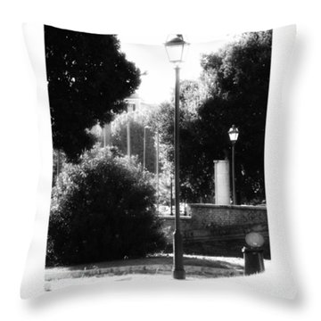 #oldtimes #old #vintage #lamp #daylight Throw Pillow by Lorin Braticevici
