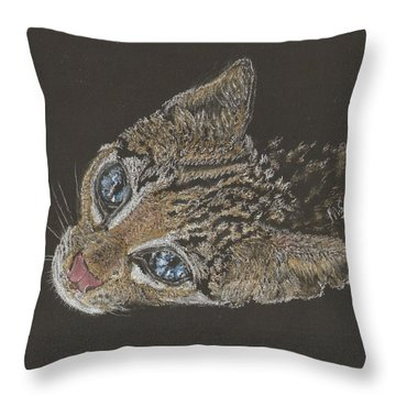 Ole Blue Eyes Throw Pillow