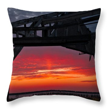 Ole Shipyard Framing Throw Pillow