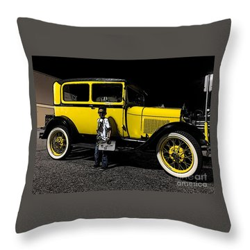 Throw Pillow featuring the photograph Ole Yalla - No.1928 by Joe Finney
