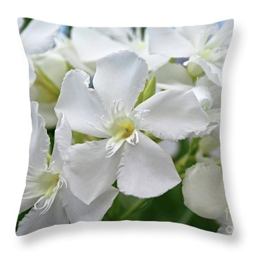 Oleander Ed Barr 3 Throw Pillow