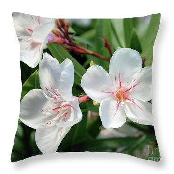 Oleander Harriet Newding 3 Throw Pillow