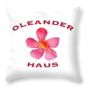 Oleander Haus Throw Pillow