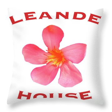 Oleander House Throw Pillow